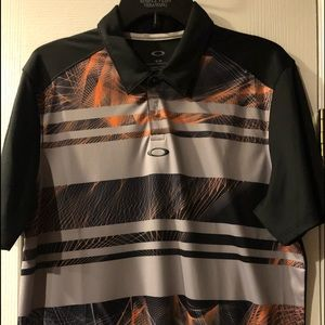 Mens Oakley Golf Shirt Size M